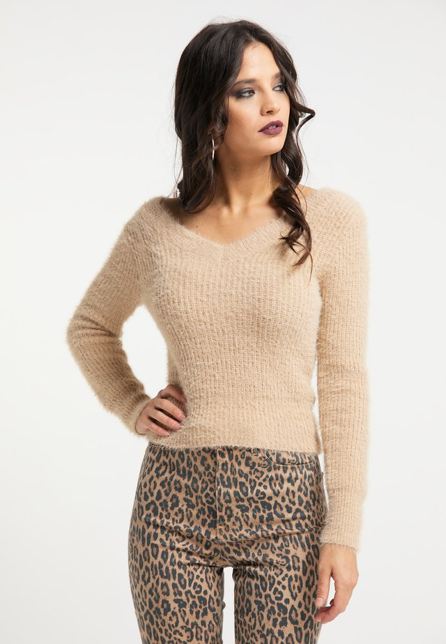 Pullover - champagner