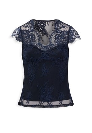 WITH LACE - Bluse - dark blue