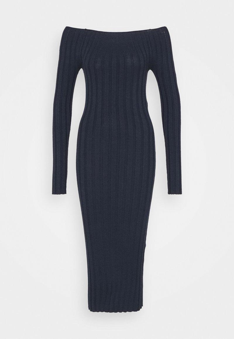 YAS - YASVERONICA MIDI DRESS - Shift dress - navy blazer