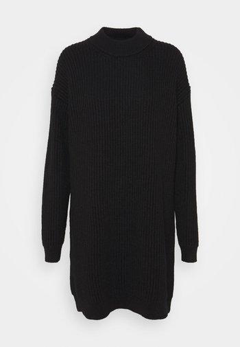 ANDRIA - Stickad klänning - schwarz