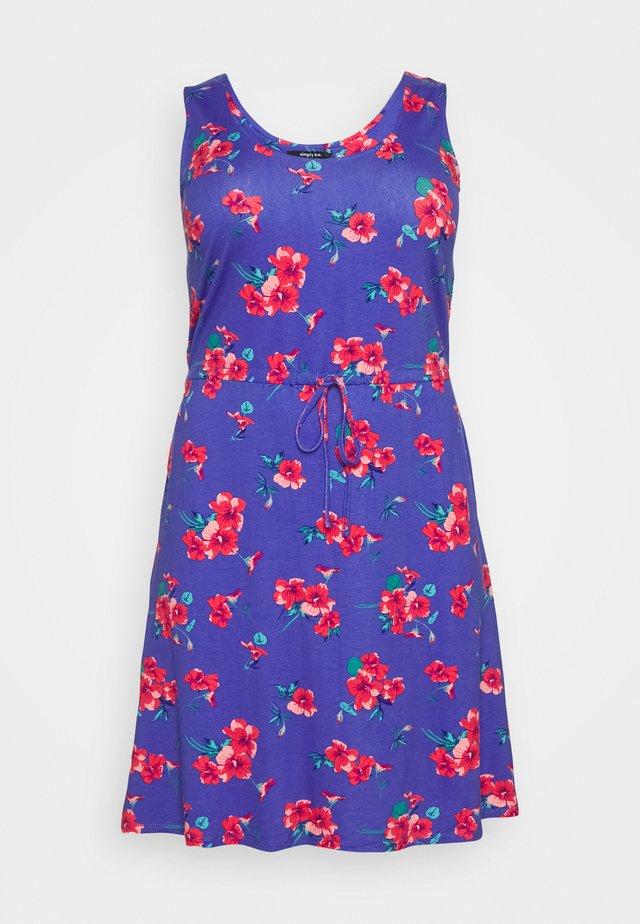 VEST SHORT DRESS - Vestito di maglina - blue