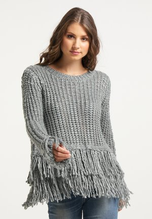 Pullover - dunkelgrau melange