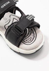 Geox - ALBEN BOY - Walking sandals - black/grey - 2