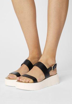 WIWIEL - Sandály na platformě - black