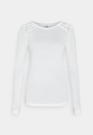 ONLNICOLE LIFE NEW MIX - Long sleeved top - cloud dancer