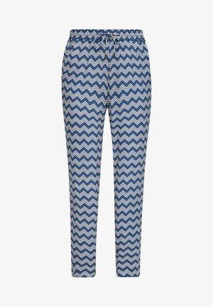BROEKEN - Trousers - faded blue zic zac stripes