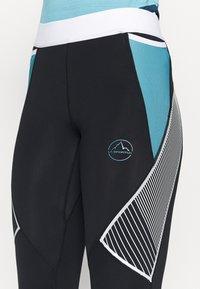 La Sportiva - PIRR PANT  - Punčochy - black/pacific blue - 3