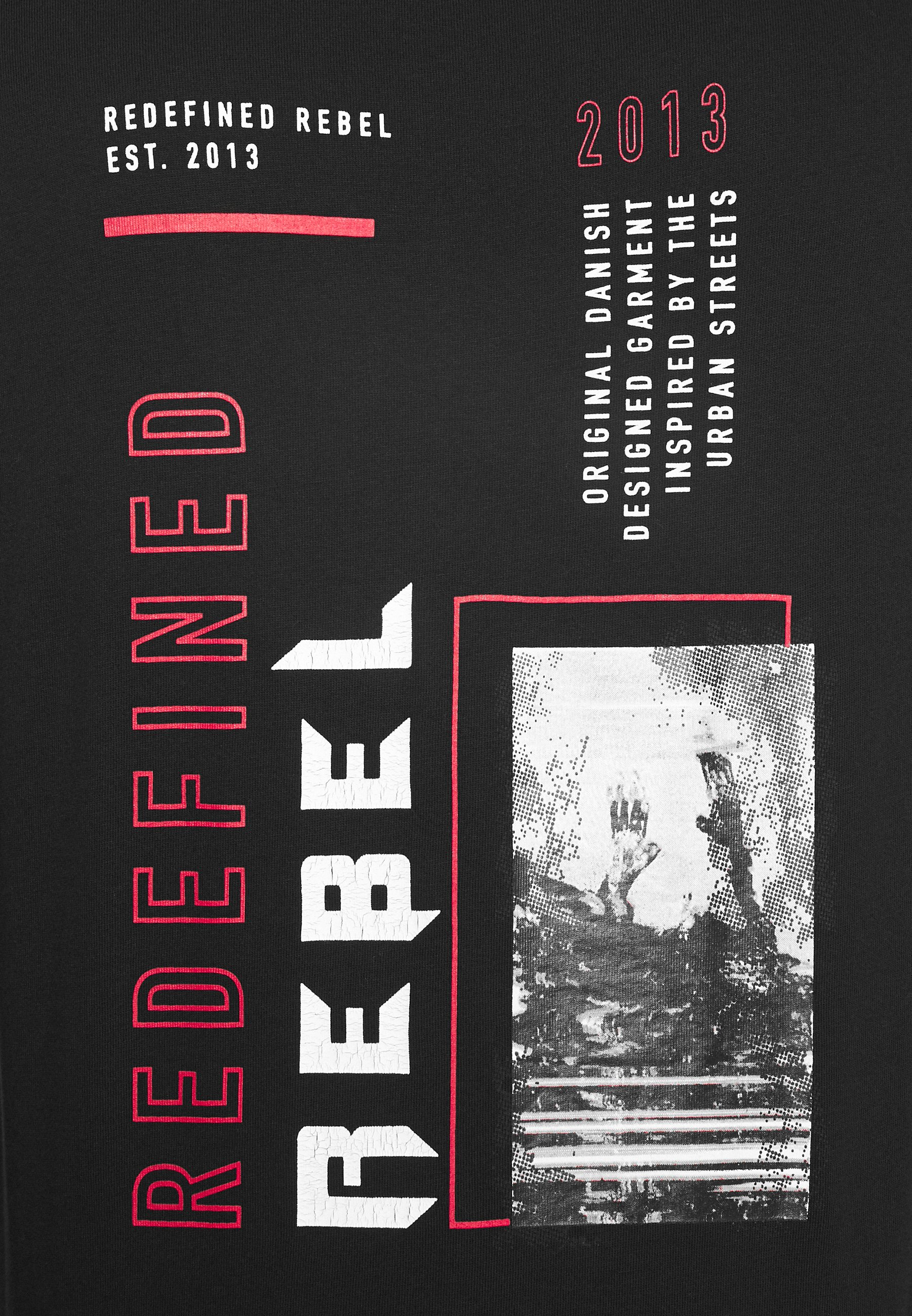 Redefined Rebel Beast Tee - T-shirts Med Print Black/svart