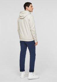 s.Oliver - FELPA - Zip-up sweatshirt - cream - 2