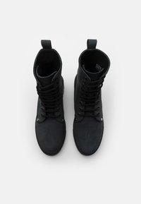 DECHASE - BOKINA UNISEX - Lace-up ankle boots - black - 3