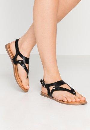 PETREY - T-bar sandals - black