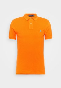 SLIM FIT MESH POLO SHIRT - Polo shirt - orange