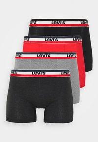 black/grey melange/red
