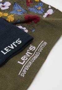 Levi's® - REGULAR CUT PECTOLITE FLOWER 2 PACK - Socks - khaki - 1