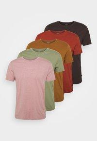 Burton Menswear London - 5 PACK - T-shirt - bas - khaki - 9