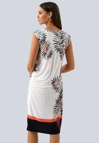 Alba Moda - Jersey dress - off-white schwarz orange - 2
