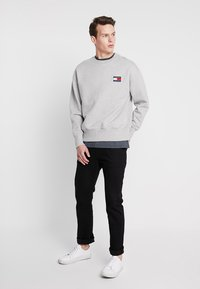 Tommy Jeans - BADGE CREW UNISEX - Bluza - grey - 1