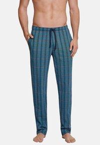 Schiesser - SCHIESSER LANG MIX & RELAX - Pyjama bottoms - blau gestreift - 0
