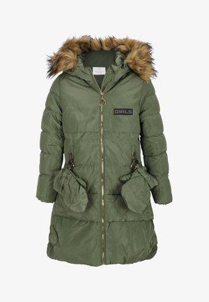 MIT HANDSCHUHEN - Winter coat - olive