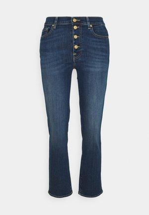 CROP BAIR DUCHESS - Bootcut jeans - mid blue