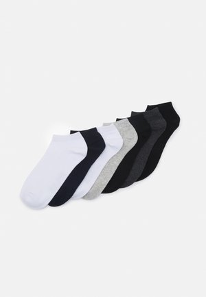 JACBASIC SHORT SOCK 7 PACK - Socks - light grey melange/navy blazer