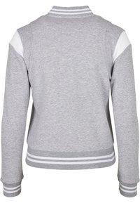 Urban Classics - Zip-up hoodie - grey white - 11