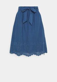 ONLSHERY LIFE MIDI - A-line skirt - dark blue denim