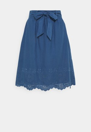 ONLSHERY LIFE MIDI - A-line skirt - dark blue denim