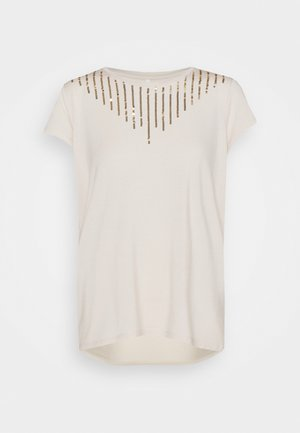 ONLBRIELLE GRACE BLING BOX - T-shirt print - moonbeam/gold