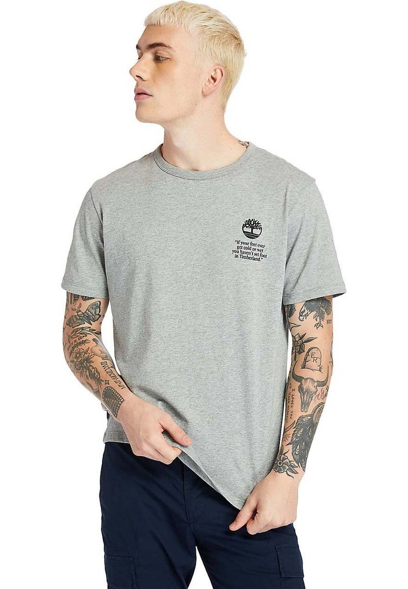 Timberland - Print T-shirt - medium grey heather