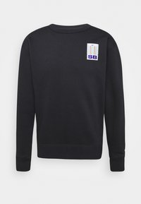 Nike SB - STRIPES CREW UNISEX - Sweatshirt - black/white - 3