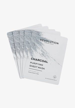 BIODEGRADABLE PURIFYING CHARCOAL SHEET MASK  - Skincare set - -