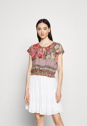 VILAVENDA CROPPED FESTIVAL - Print T-shirt - multi-coloured