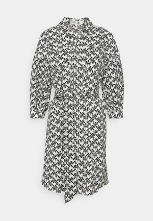 DRESS - Shirt dress - trellis medium black