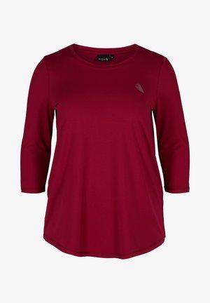 MIT 3/4-ÄRMELN - Camiseta de manga larga - beet red