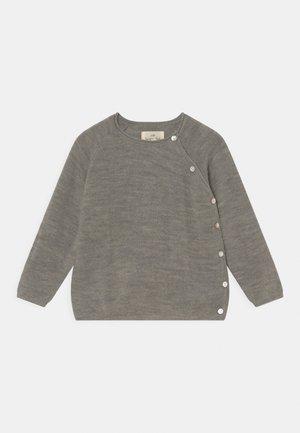 MATTI PEARL WRAP UNISEX - Cardigan - grey melange