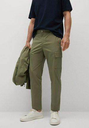 CROPPED  - Cargo trousers - kaki
