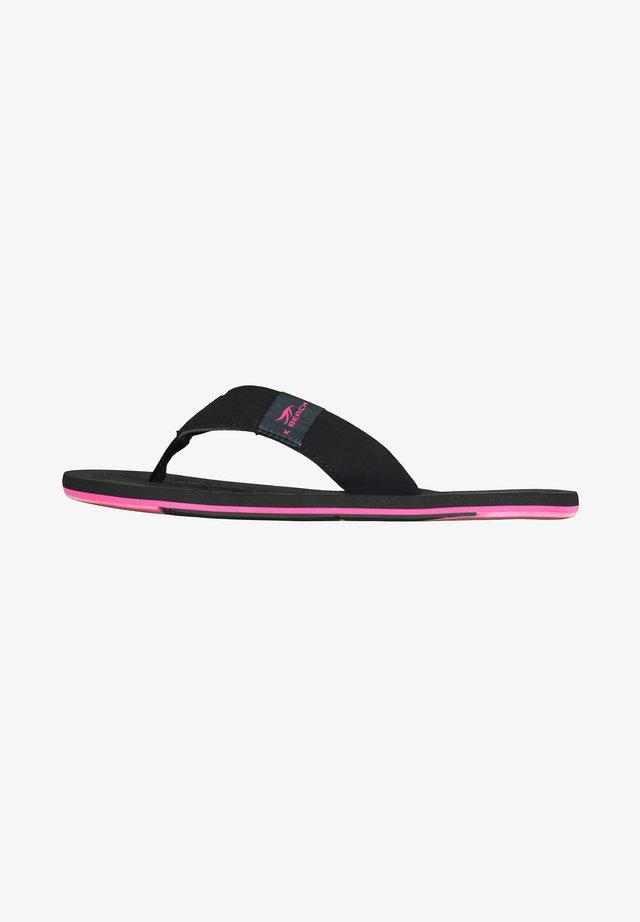 Slippers - schwarz/fuchsia