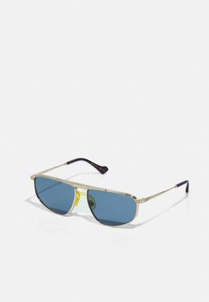 Lunettes de soleil - gold-coloured/gold-coloured/blue
