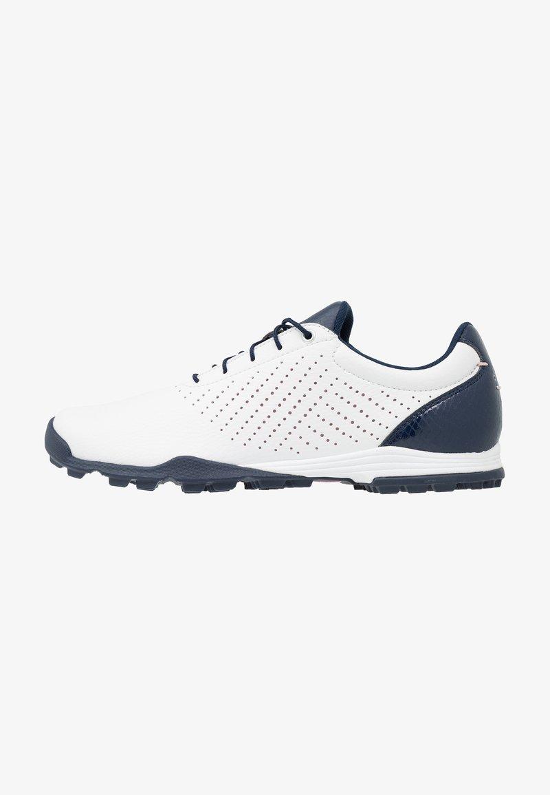 adidas Golf - ADIPURE SC - Golfové boty - footwear white/collegiate navy/true pink