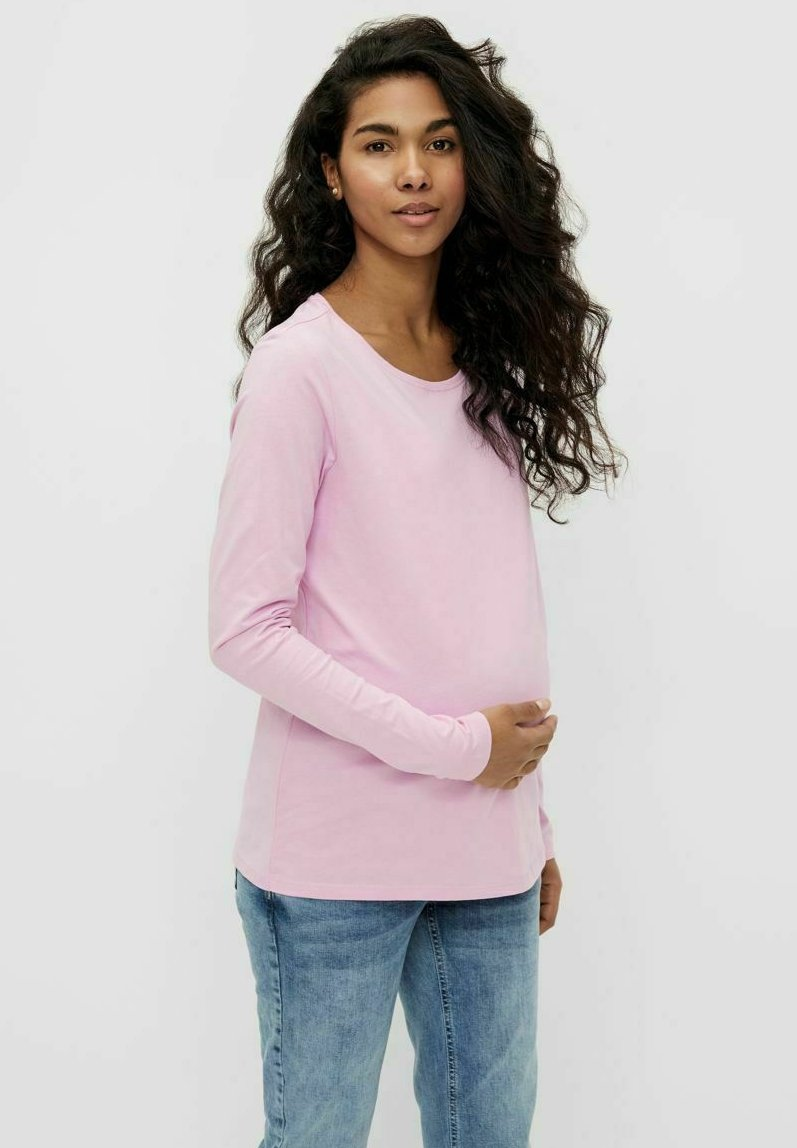 Pieces Maternity - PCMRIA NEW TEE - Long sleeved top - pastel lavender