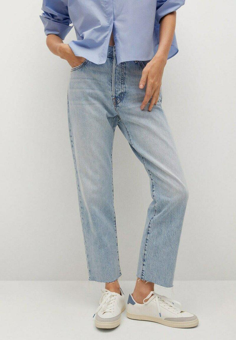 Mango - Straight leg jeans - light blue