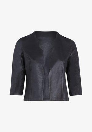 MIT BOGENKANTE - Faux leather jacket - black