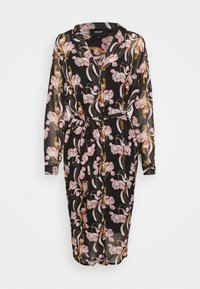 Object - OBJCINNA LONG SHIRT DRESS - Hverdagskjoler - black/multi colour - 4