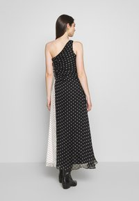 House of Holland - ONE SHOULDER POLKA GATHERED DRESS - Cocktail dress / Party dress - black/white - 2