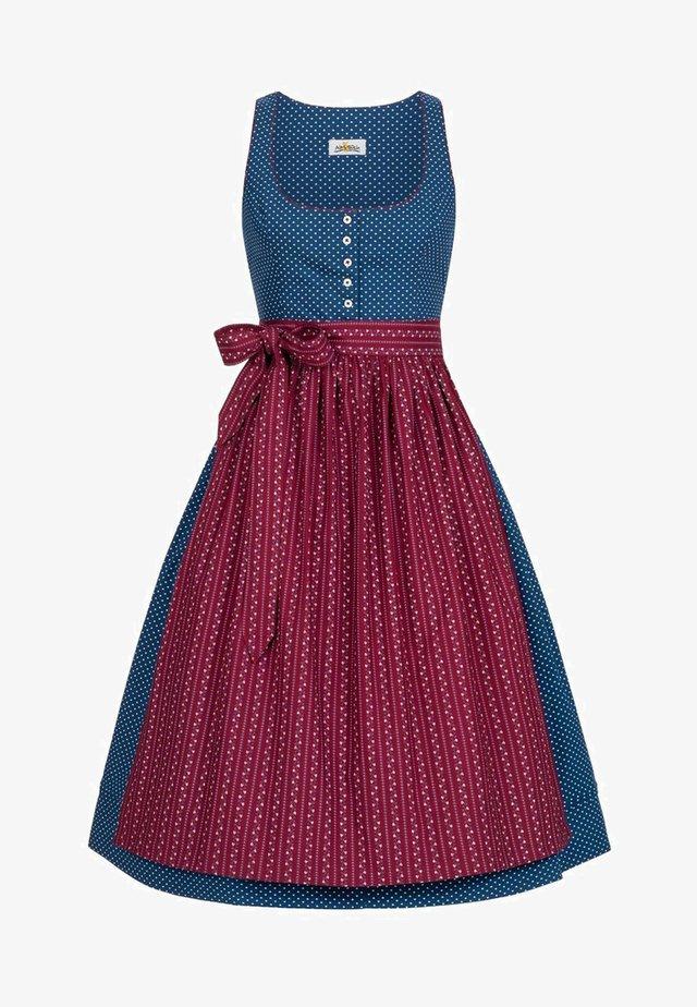 SOPHIE  - Dirndl - blue/wine red
