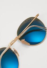 Ray-Ban - 0RB3447 ROUND METAL - Okulary przeciwsłoneczne - gold-coloured/blue - 2