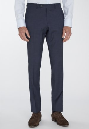 SPLIT BUCK NOOS - Suit trousers - blue