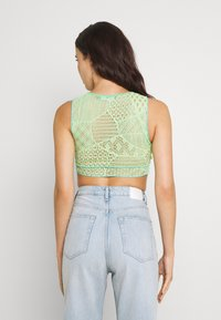 Jaded London - ENGINEERED WITH BUTTON DETAIL - Linne - yellow/ green/ blue - 2
