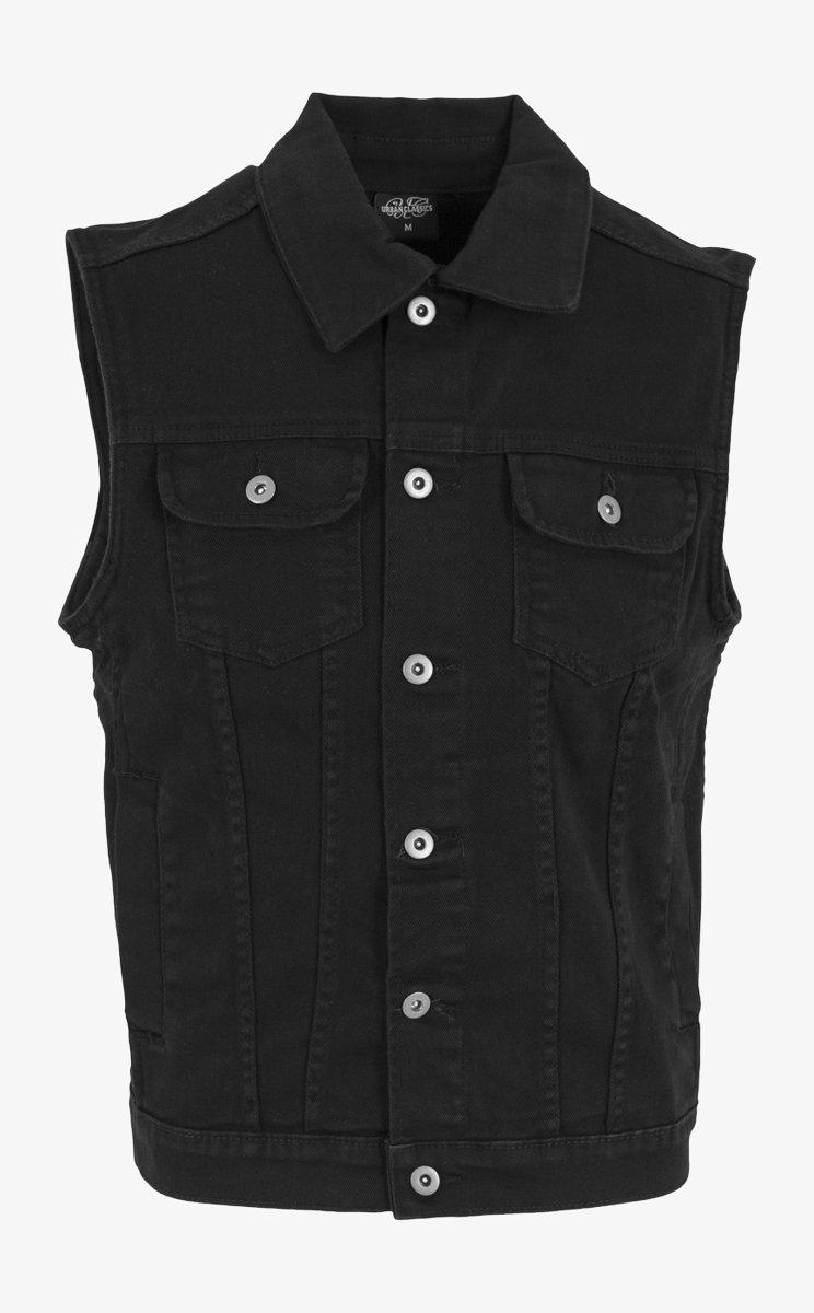 Urban Classics - Waistcoat - blackraw